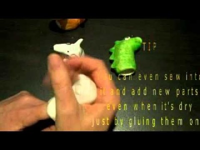 How to make finger puppets using paperclay!.m4v