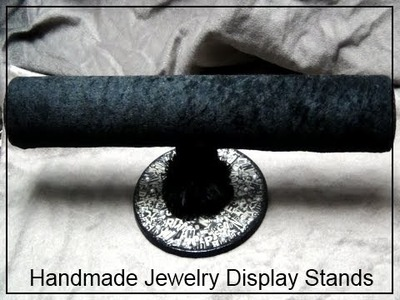 ■ How To Make Jewelry Holders ■   Fabric T-Bar Display Stand  ■