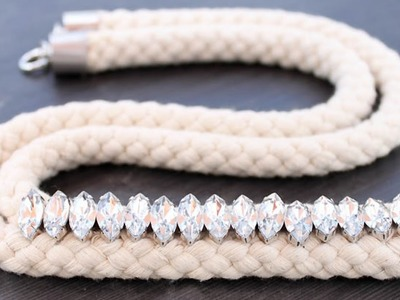 Make a Pretty Jeweled Rope Necklace - DIY Style - Guidecentral