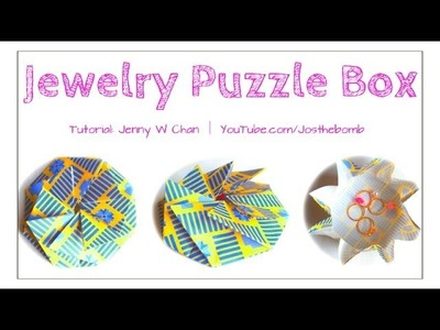 Mother's Day Crafts - How to Make an Origami Box for Jewelry - Paper Gift Box - Tato for Kimono