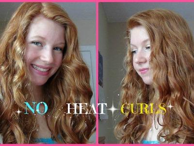 No Heat Curls! Loose Beach-y Curls ♥