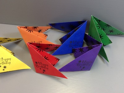 Origami Poppers - Make Your Own Birthday Party Supplies