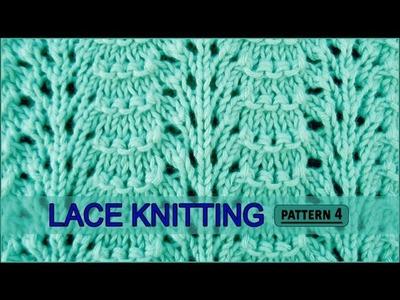 Ridged Feather Stitch | Lace Knitting Pattern #4