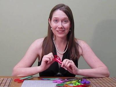 Scrapbooking Tutorial #12: My Fancy Craft Scissors