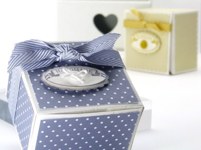 Stampin Up UK Short Wide Candle Gift Box