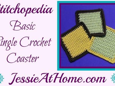 Stitchopedia ~ Single Crochet Square with Border