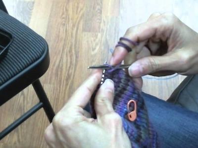 Toe-Up Socks on Circular Knitting Needles - Turning the Heels (Part 3 of 5)