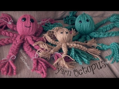Yarn Octopus Doll - How To. DIY