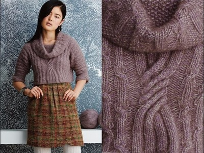 #10 Cropped Cabled Pullover, Vogue Knitting Fall 2014