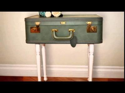 12 DIY Vintage Suitcase Crafts For Home Décor
