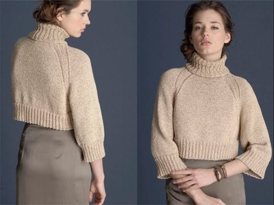 #15 Cropped Pullover, Vogue Knitting Early Fall 2011