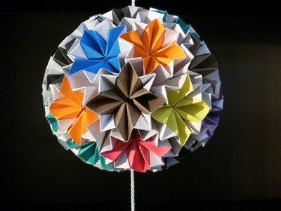3D origami - kusudama - venus - how to make