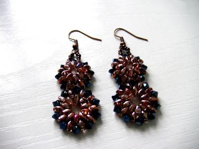 Beading DIY - Earrings using Superduo Beads