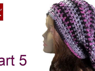 Bob Marley Crochet Slouch Hat Part 5