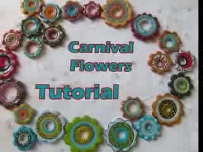 Carnival beads tutorial promo  how to creat polymer  flowers beads