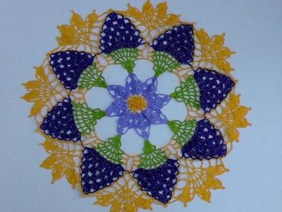 Carpeta crochet flor 2 de 2