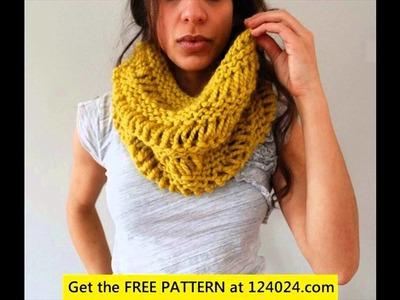Child's infinity scarf crochet pattern