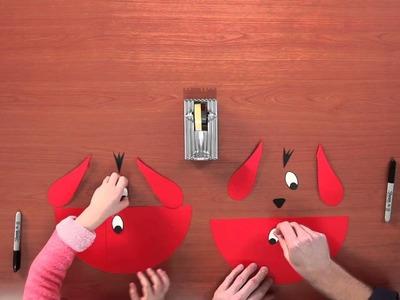 Craft: How to Make a Clifford Birthday Party Hat