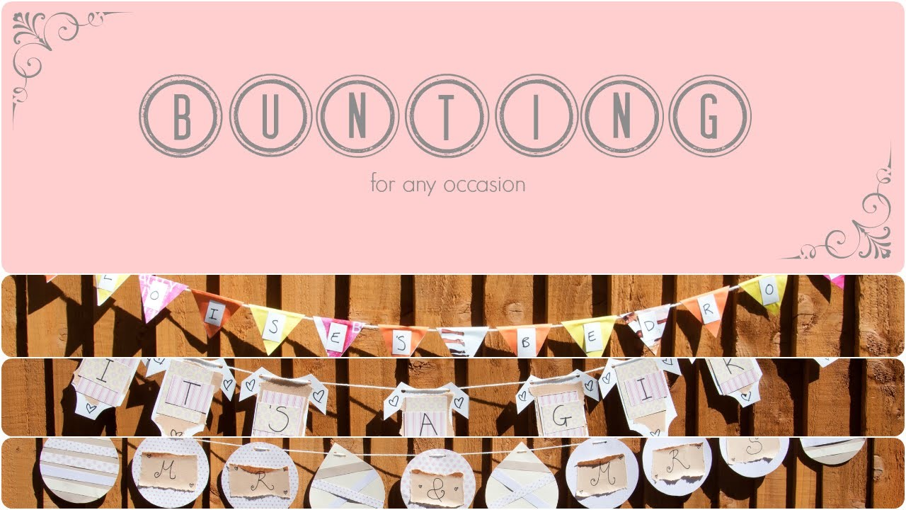 CRAFT - How to make Bunting 3 ways | eloise |
