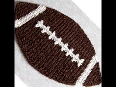 Crochet Football Placemat Tutorial Part 1