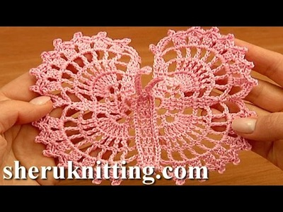 Crochet Large Butterfly Step-by-Step Tutorial 13 Free Crochet Butterfly Pattern