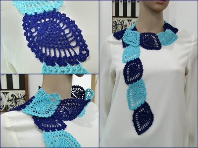 Crochet Scarf Tutorial Pattern #3 (Pineapple Pattern Scarf) part 3 of 3