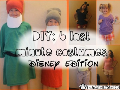 DIY: 6 Last Minute Halloween Costumes | DISNEY EDITION