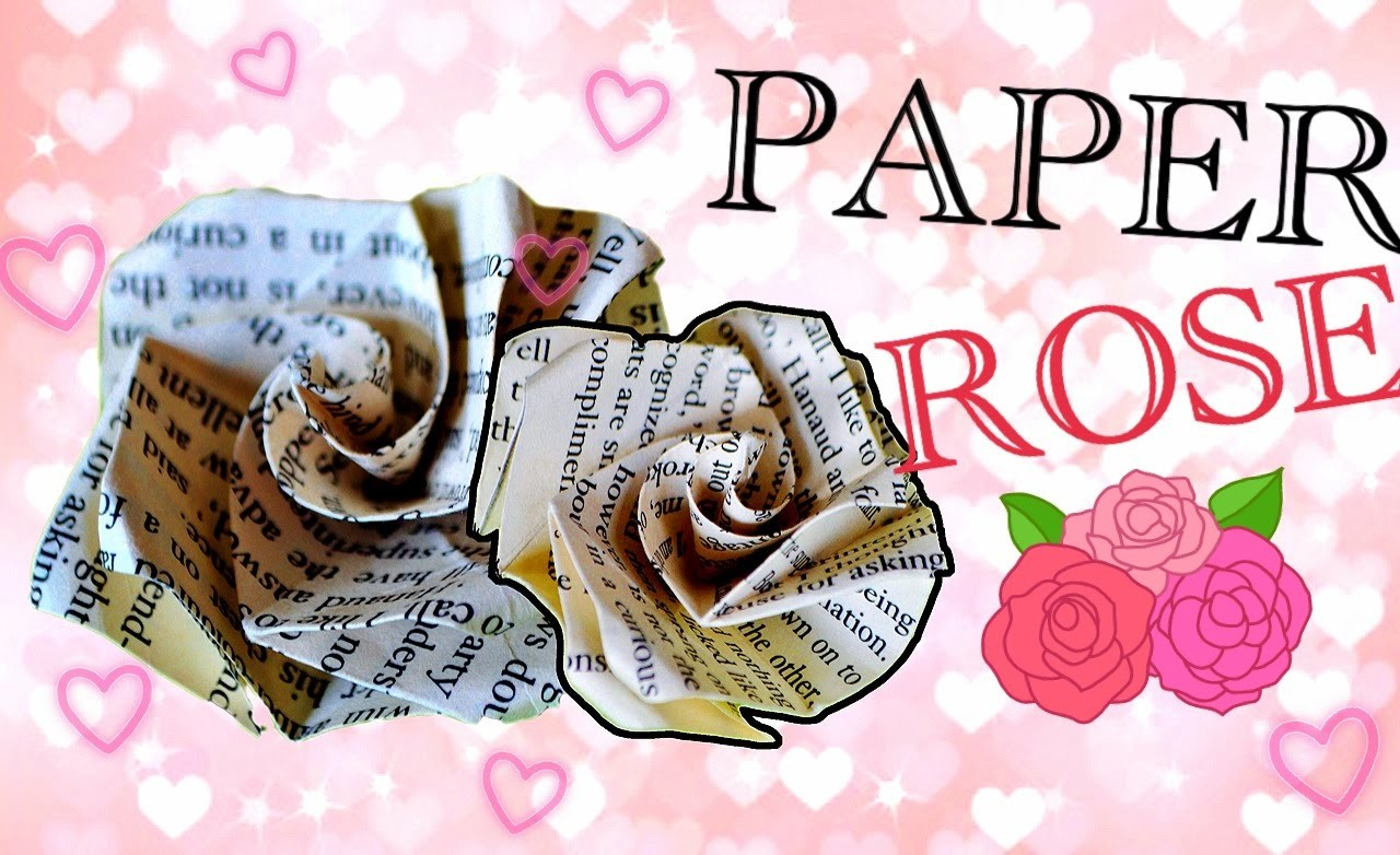 DIY Book Paper Rose Origami (gift for him.her)
