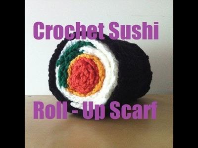 DIY - Crochet Sushi Roll-Up Scarf