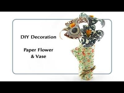 DIY Decoration: Paper Flower & Vase