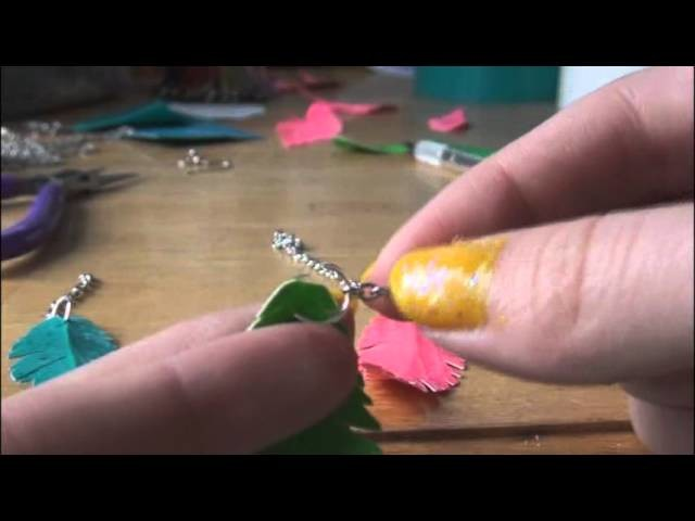 DIY: Duct Tape Feather Earrings