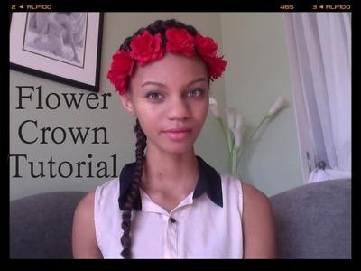 ♡ DIY : EASY Boho Flower Crown Headband Tutorial ♡