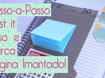 DIY Post it caseiro- Scrapbook by Tamy