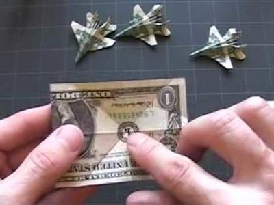 Dollar Origami F-18: Steps 1-4