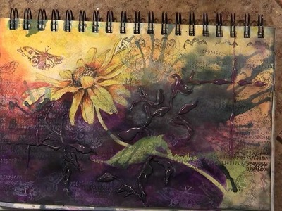 "Fluidity in Composition - ""Thrive,"" A Mixed Media Journaling Page"