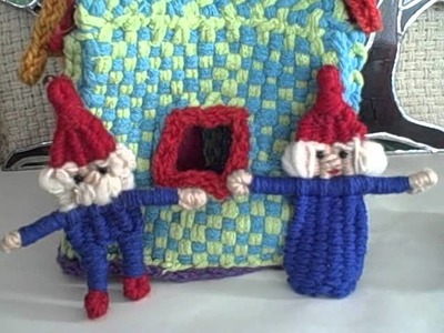Gnomes & Gnome house to weave on the potholder loom