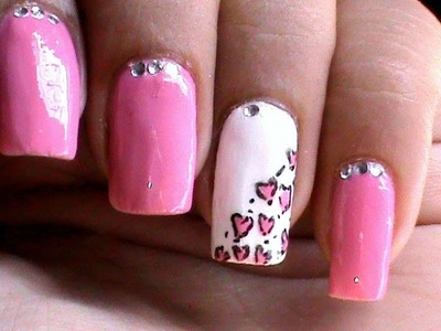 Heart Leopard nail art tutorial easy nail designs for beginners cute nail polish ideas DIY at home