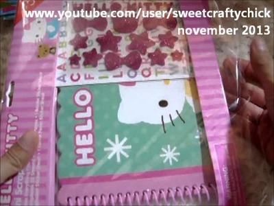 Hello Kitty Scrapbook Kits at Target Dollar Spot and Other Goodies - November 2013