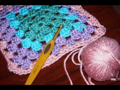 How to crochet a granny square