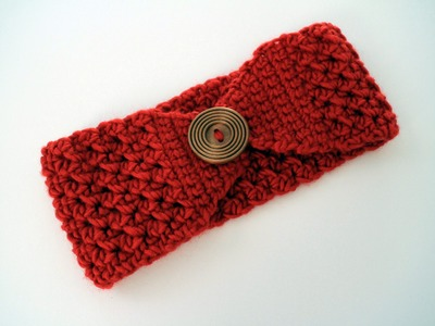 How to Crochet a Headband Left Handed