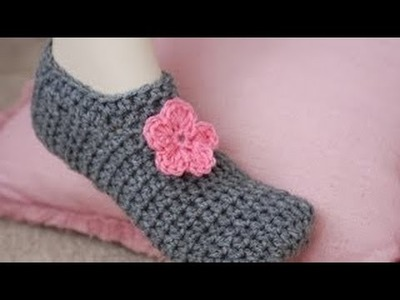 How To Crochet Slippers AisTutorial For Beginners, Super Easy!part-1