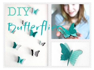 How to DIY Butterfly Wall Decals | Decorations That Impress