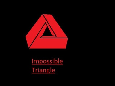How to draw a optical illusion: Impossible Triangle