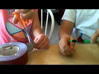 How to make a bow and arrow out of household items