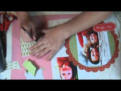 How to Make a Christmas Scrapbook Layout