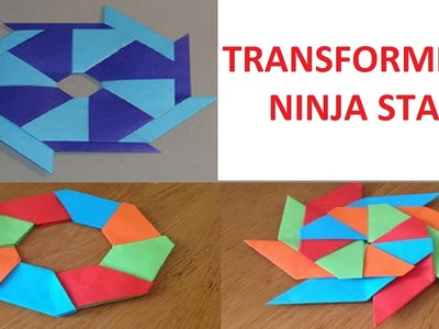 How to Make a Transforming Ninja Star (Shuriken-Easy-8-Pointed-Origami)