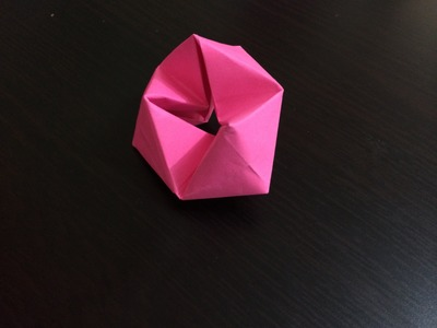 How to make origami  rotating tetrahedron