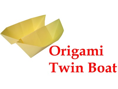 How to make Origami Twin Boat ( very easy ) : DIY Crafts