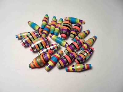 How to make paper bead with color paper