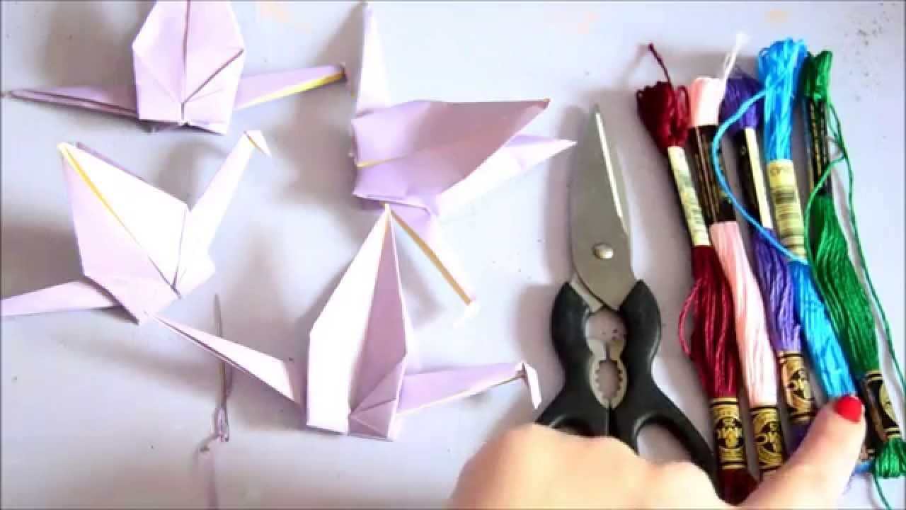 How To Make Paper Crane Chains